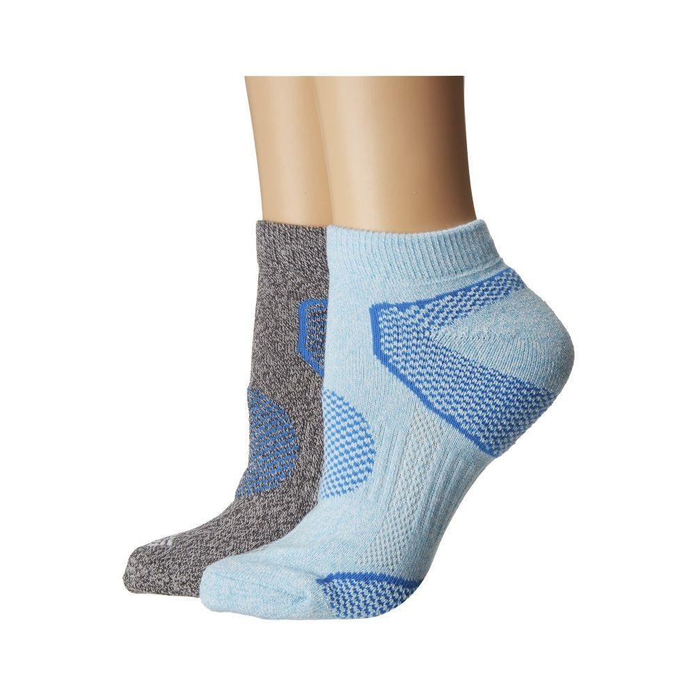 コロンビア レディース ランニング・ウォーキング【2-Pack Low Cut Walking Socks】Coastal Blue