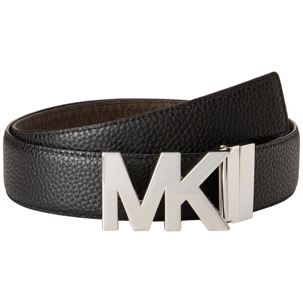 マイケル コース レディース ベルト【38mm Reversible Pebble to Logo Belt on MK Plaque Buckle】Black/Chocolate