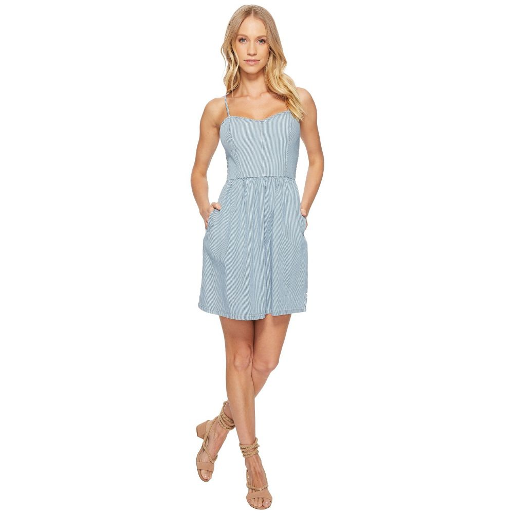 ヴァンズ レディース ワンピース・ドレス ワンピース【Boxcar Dress】Bleach Stripe