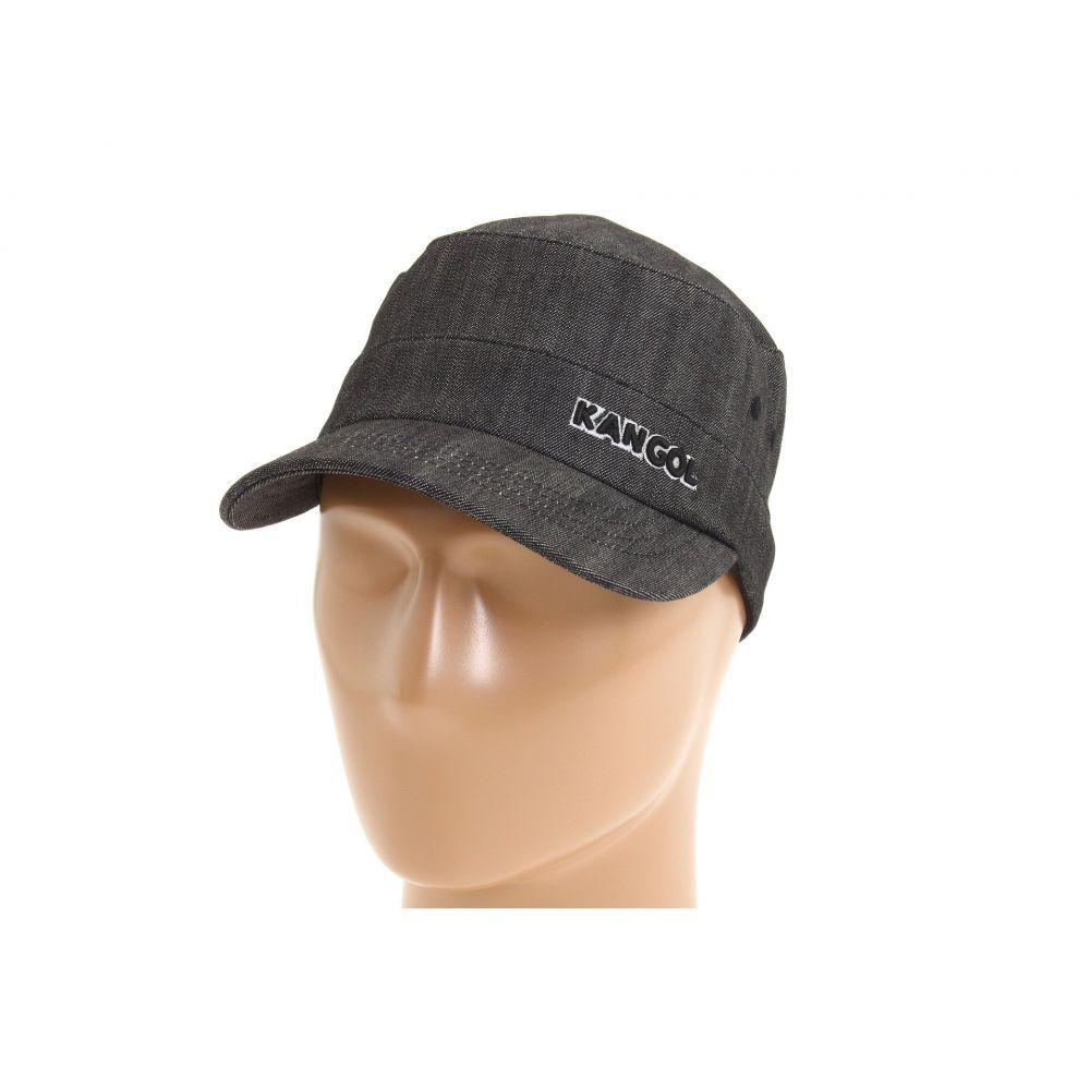 カンゴール レディース 帽子【Denim Army Cap】Black