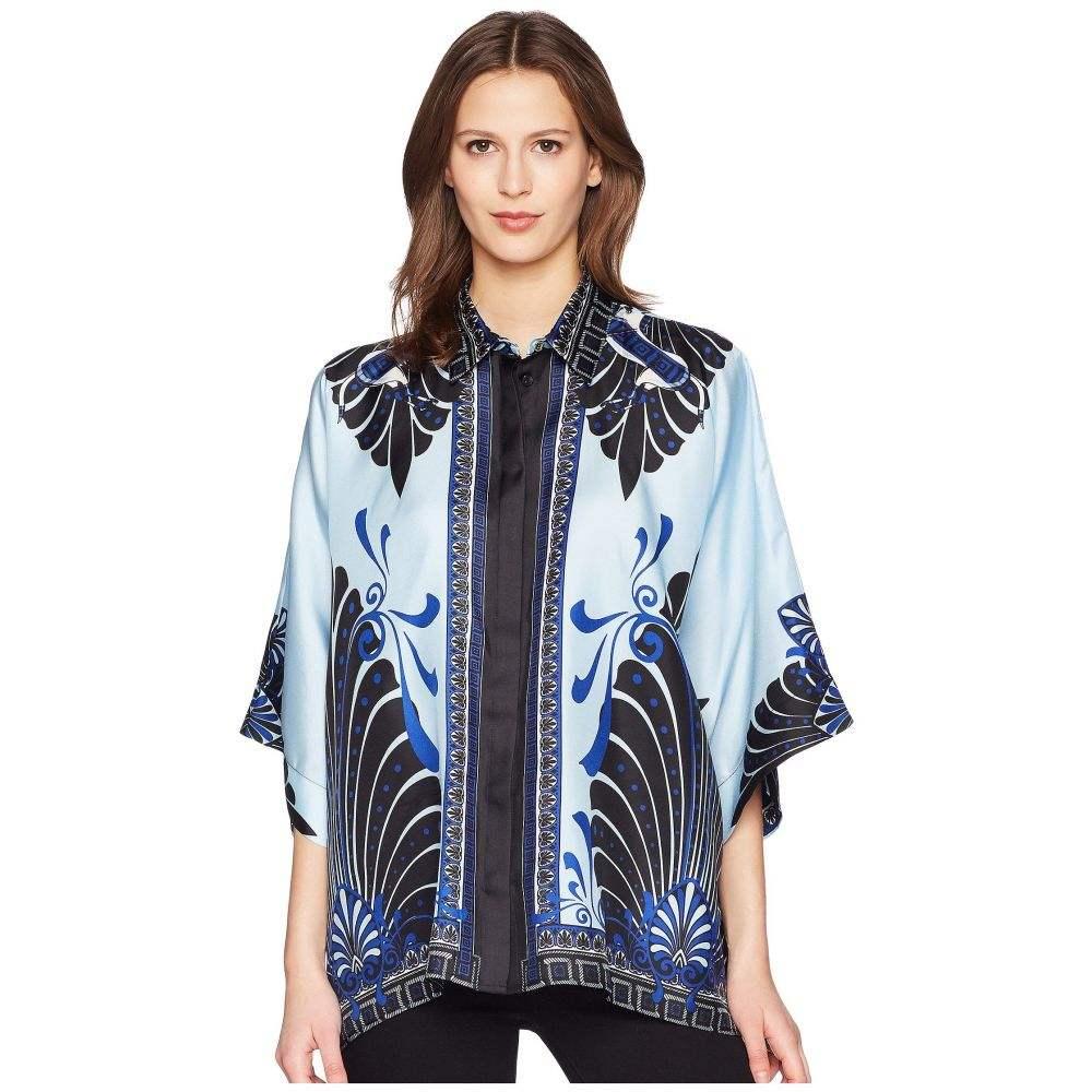 ヴェルサーチ レディース トップス ブラウス・シャツ【Camicia Donna Tessuto Three-quarter Sleeve Shirt】Azzurro/Stampa