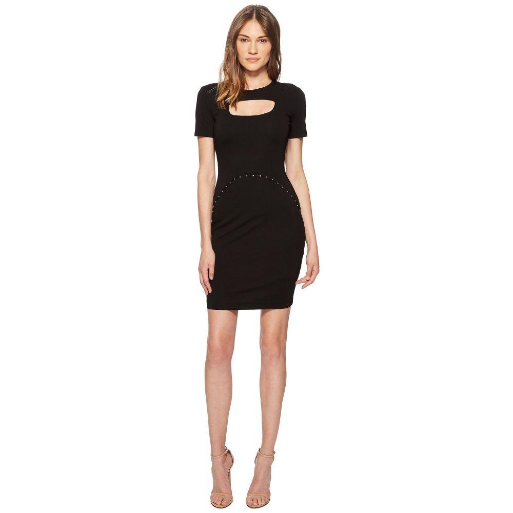 ヴェルサーチ レディース ワンピース・ドレス ワンピース【Short Sleeve Dress w/ Cut Out】Black