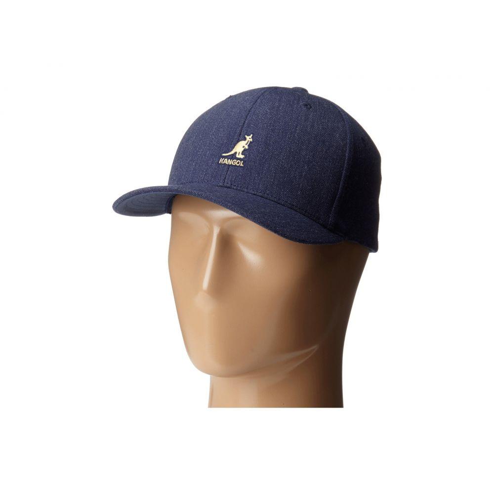 カンゴール レディース 帽子 キャップ【Wool Flex Fit Baseball】Denim