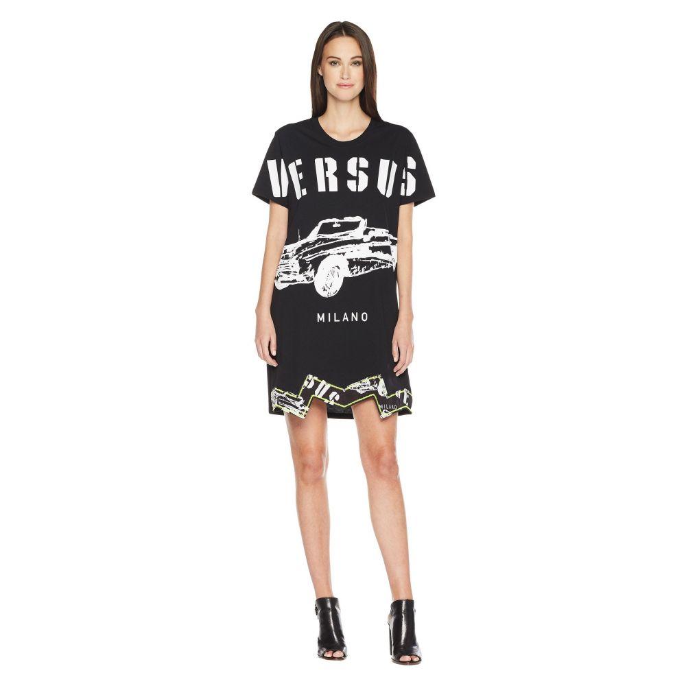 ヴェルサーチ レディース ワンピース・ドレス ワンピース【T-Shirt Donna】Black/Stampa