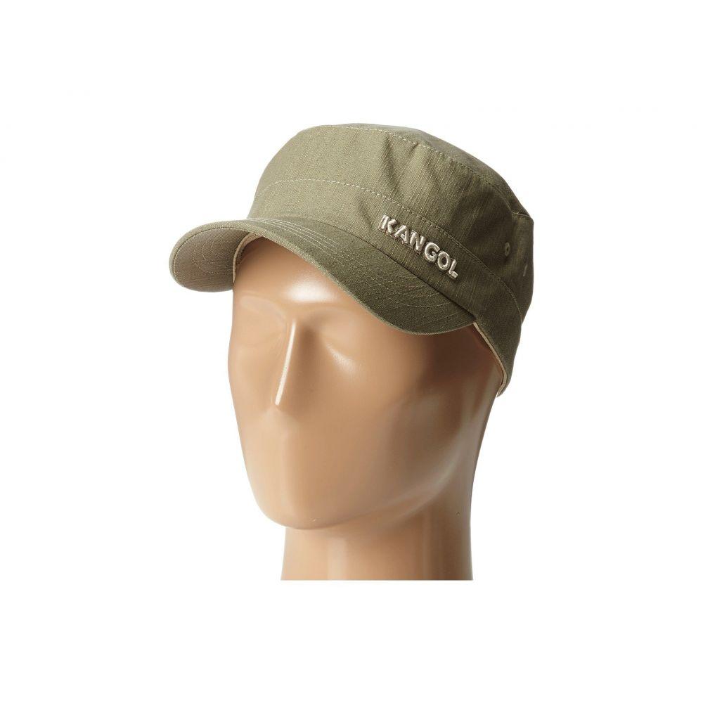 カンゴール レディース 帽子【Denim Army Cap】Beige