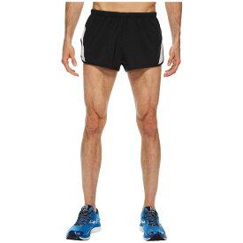 ブルックス メンズ ランニング・ウォーキング ボトムス・パンツ【Go-To 2 Split Shorts】Black/Sterling