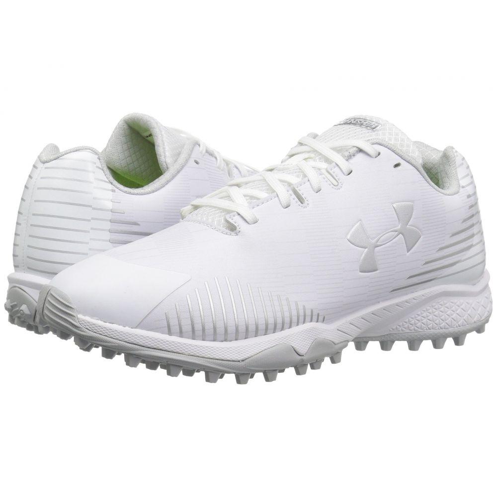 アンダーアーマー レディース ラクロス シューズ・靴【UA Lax Finisher TF】White/White