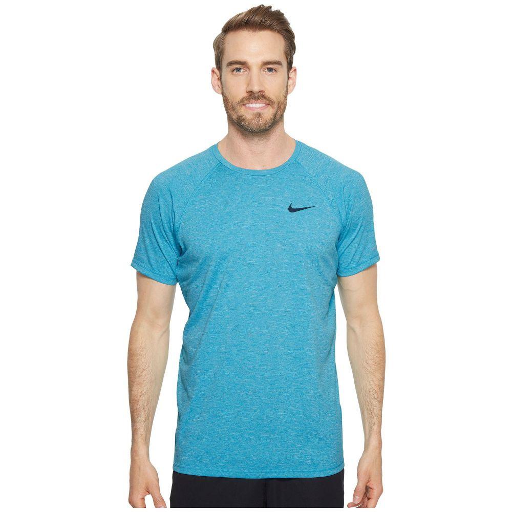 ナイキ Nike メンズ 水着・ビーチウェア ラッシュガード【Short Sleeve Hydroguard】Light Blue Fury