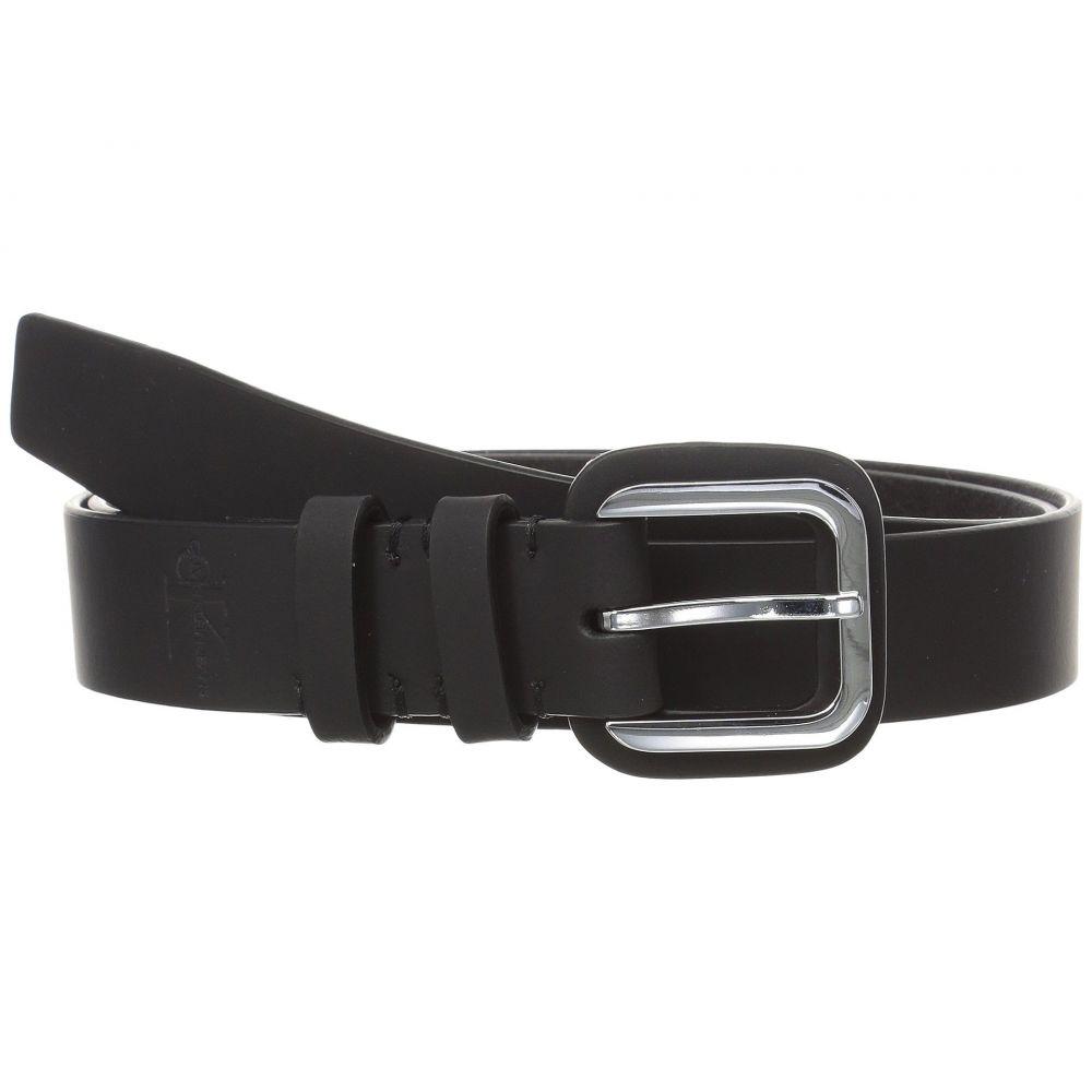 カルバンクライン Calvin Klein レディース ベルト【30mm Flat Strap w/ Buckle Guard】Black