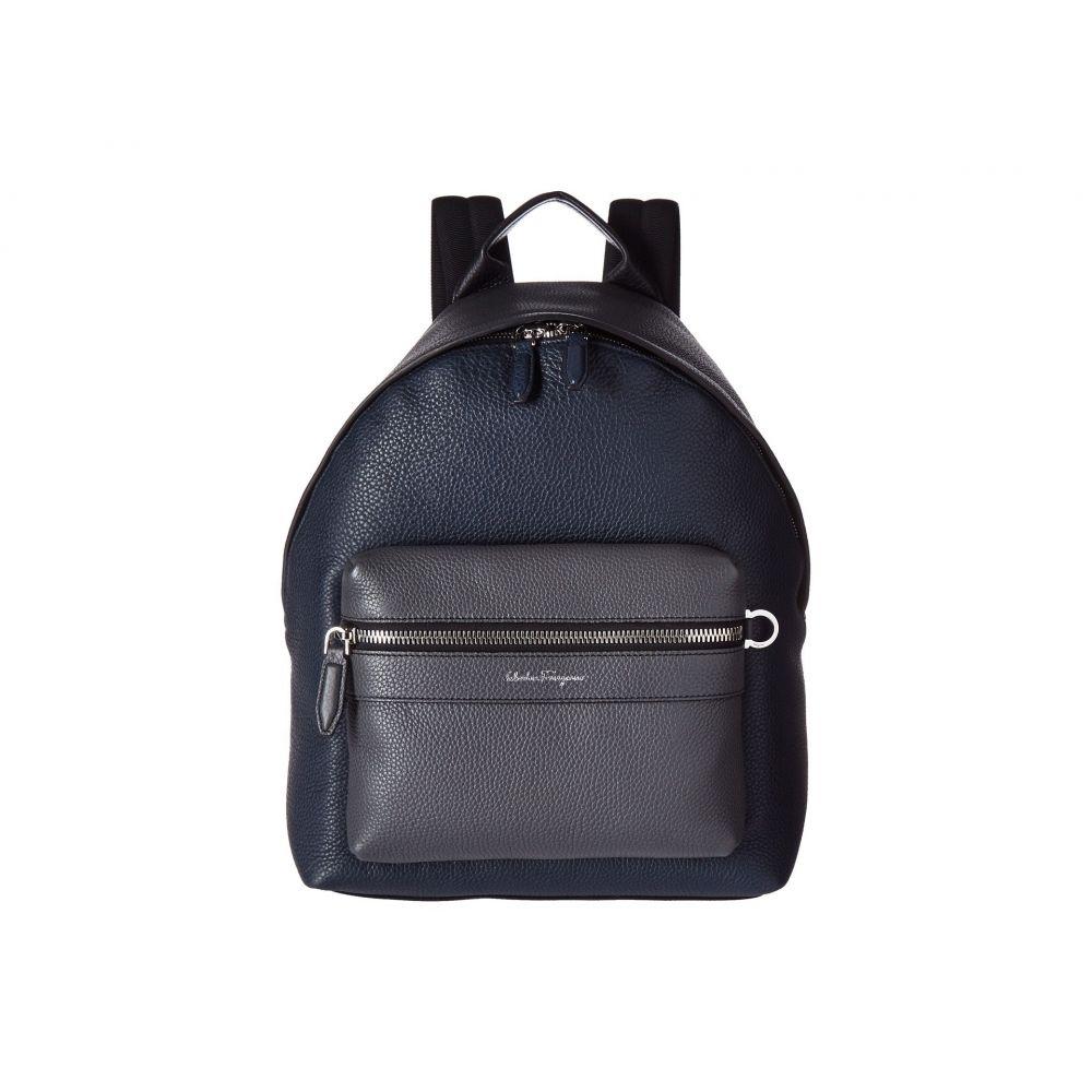 サルヴァトーレ フェラガモ Salvatore Ferragamo メンズ バッグ バックパック・リュック【Firenze Color Block Backpack】Black/Lavagna