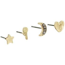 フレンチコネクション French Connection レディース ジュエリー・アクセサリー イヤリング・ピアス【Charm Stud Earrings Set】Gold