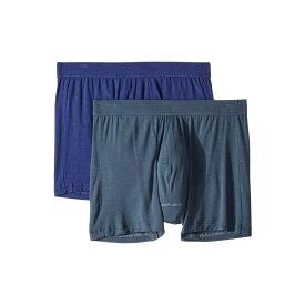ジョッキー Jockey メンズ インナー・下着 ボクサーパンツ【Essential Fit Supersoft Modal Boxer Brief 2-Pack】Nerves of Steel Blue/Just Past Midnight