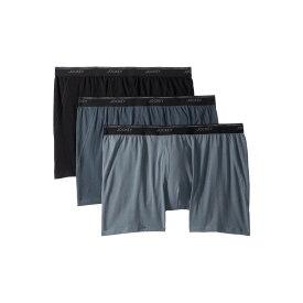 ジョッキー Jockey メンズ インナー・下着 ボクサーパンツ【Essential Fit Max Stretch Boxer Brief 3-Pack】Black/Nerves of Steel/Iron Grey