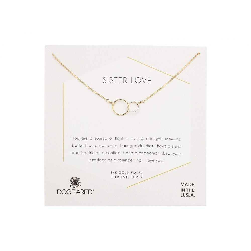 ドギャード Dogeared レディース ジュエリー・アクセサリー ネックレス【Sister Love, Mixed Metal Linked Rings Necklace】Gold/Sterling Silver