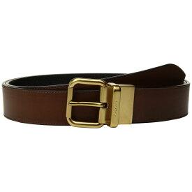 コーチ COACH メンズ ベルト【Jeans Reversible Belt】Dark Saddle/Black