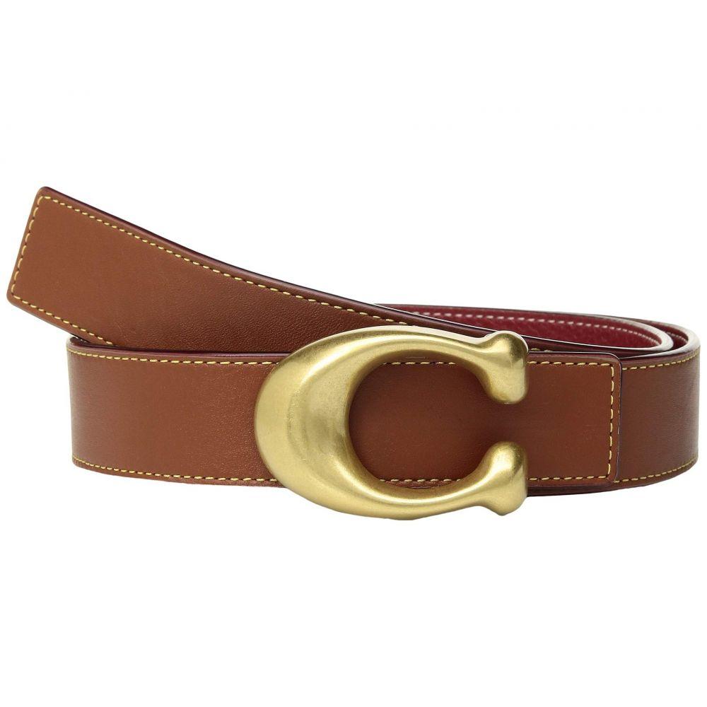 コーチ COACH レディース ベルト【32mm Sculpted C Reversible Glovetanned Belt】Saddle/ Red