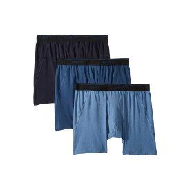 ジョッキー Jockey メンズ インナー・下着 ボクサーパンツ【Essential Fit Max Stretch Boxer Brief 3-Pack】True Navy/Blue Tranquil/Blue Wash