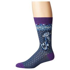 エトロ Etro メンズ インナー・下着 ソックス【Stripe/Paisley/Medallion Socks】Blue Multi
