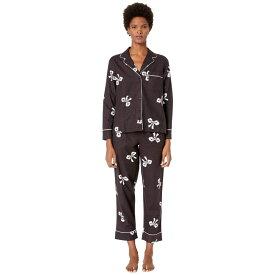 ケイト スペード Kate Spade New York レディース インナー・下着 パジャマ・上下セット【Brushed Twill Long Pajama Set】Bows