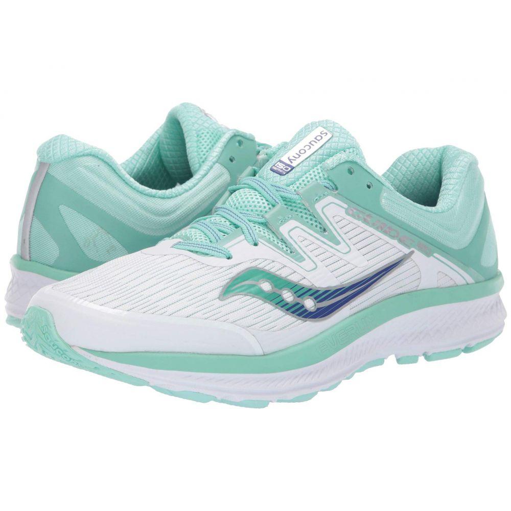 サッカニー Saucony レディース ランニング・ウォーキング シューズ・靴【Guide ISO】White/Aqua
