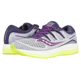 サッカニー Saucony レディース ランニング・ウォーキング シューズ・靴【Triumph ISO 5】White/Purple/Citron
