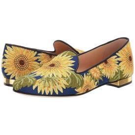 シャーロット オリンピア Charlotte Olympia レディース シューズ・靴 ローファー・オックスフォード【Sunflower Loafer】Multi Embroidered Canvas