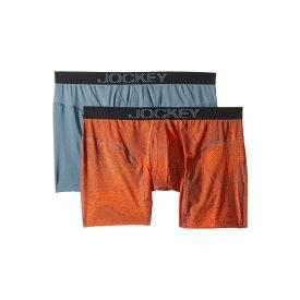 ジョッキー Jockey メンズ インナー・下着 ボクサーパンツ【Athletic Rapidcool Boxer Brief 2-Pack】Net Orange/Grey/Sunset Orange