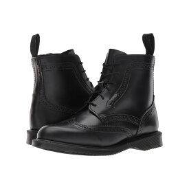 ドクターマーチン Dr. Martens レディース シューズ・靴 ブーツ【Delphine 6-Eye Brogue Boot】Black Polished Smooth