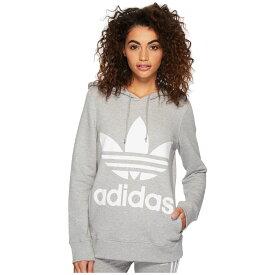 アディダス adidas Originals レディース トップス パーカー【Trefoil Hoodie】Medium Grey Heather 2