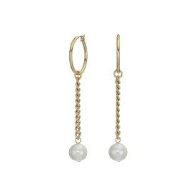 フレンチコネクション French Connection レディース ジュエリー・アクセサリー イヤリング・ピアス【Hoop with Pearl Drop Earrings】White