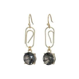 フレンチコネクション French Connection レディース ジュエリー・アクセサリー イヤリング・ピアス【Paperclip Stone Drop Earrings】Black Diamond