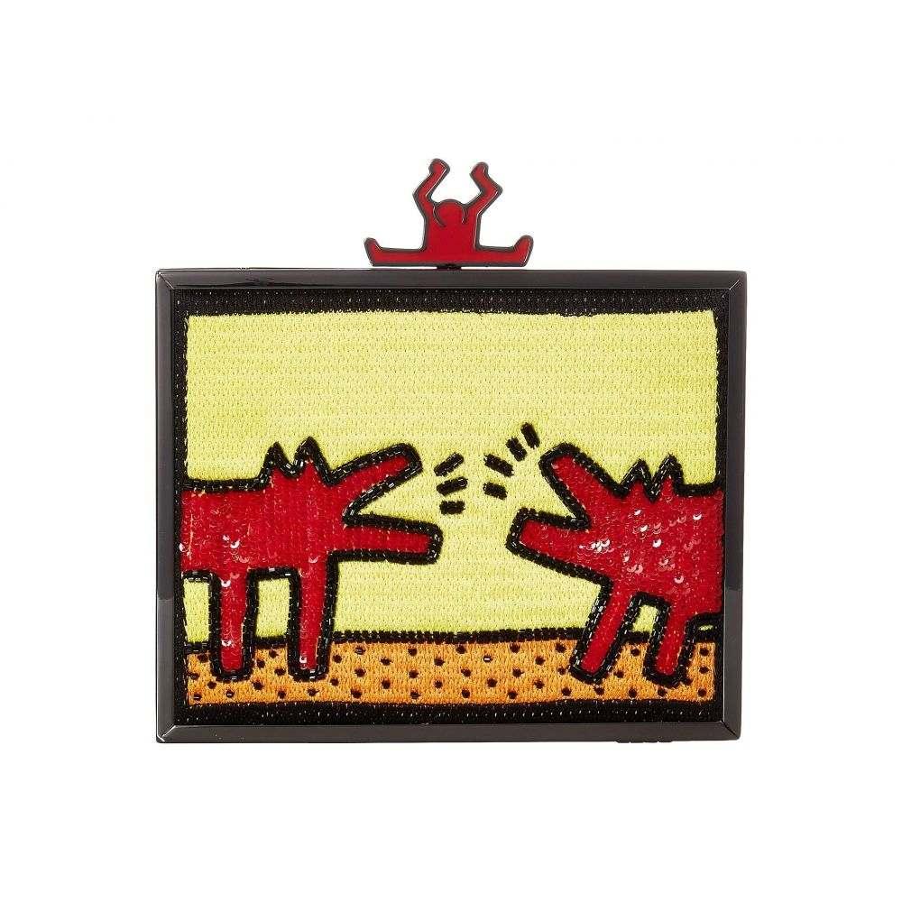 アリス アンド オリビア Alice + Olivia レディース バッグ クラッチバッグ【Keith Haring X Abbey Embellished Clutch】Barking Dog