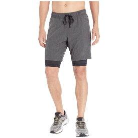アロー ALO メンズ ボトムス・パンツ ショートパンツ【Unity 2-in-1 Shorts】Dark Grey Marl/Black