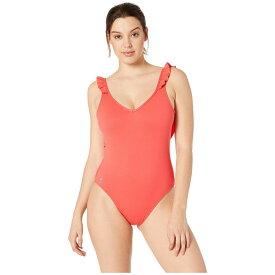 ラルフ ローレン Polo Ralph Lauren レディース 水着・ビーチウェア ワンピース【Modern Solids Ruffle Back One-Piece Swimsuit】Guava