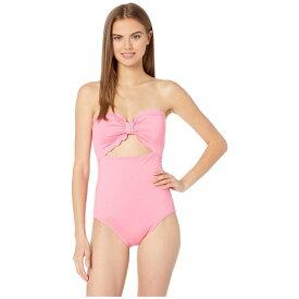 ケイト スペード Kate Spade New York レディース 水着・ビーチウェア ワンピース【Core Solids Scalloped Cut Out Bandeau One-Piece】Meadow Pink