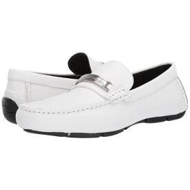 カルバンクライン Calvin Klein メンズ シューズ・靴 ローファー【Kolton】White Hatched Embossed Leather