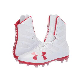 アンダーアーマー Under Armour メンズ アメリカンフットボール シューズ・靴【UA Highlight MC】White/Red