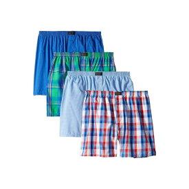 ジョッキー Jockey メンズ インナー・下着 ボクサーパンツ【Active Blend Woven Boxer 4-Pack】Bold Plaid/Stripe Blue/Check/Stripe