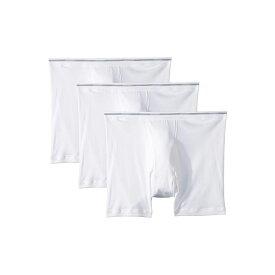 ジョッキー Jockey メンズ インナー・下着 ボクサーパンツ【100% Cotton Classic Knits Full Rise Boxer Brief 3-Pack】White