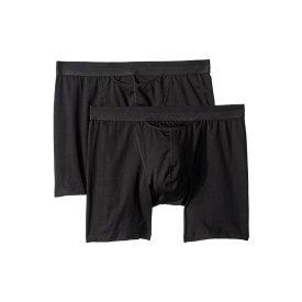 オム HOM メンズ インナー・下着 ボクサーパンツ【HO-1 Long Boxer Briefs 2-Pack】Black