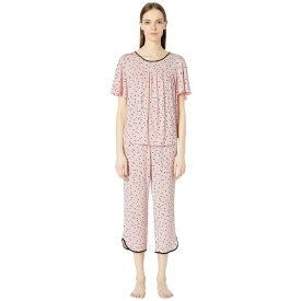 ケイト スペード Kate Spade New York レディース インナー・下着 パジャマ・上下セット【Evergreen Cropped Short Sleeve Pajama Set】Scattered Dot Pink