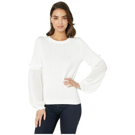 マイケル コース MICHAEL Michael Kors レディース トップス ニット・セーター【Smock Woven Sleeve Sweater】White