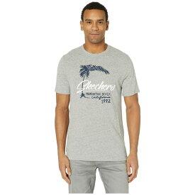 スケッチャーズ SKECHERS Performance メンズ トップス Tシャツ【Blissful Graphic Tee Manhattan Beach】Gray