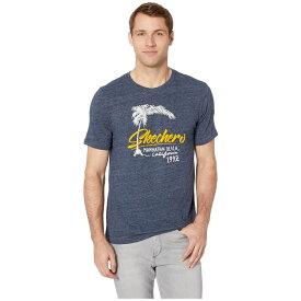 スケッチャーズ SKECHERS Performance メンズ トップス Tシャツ【Blissful Graphic Tee Manhattan Beach】Navy