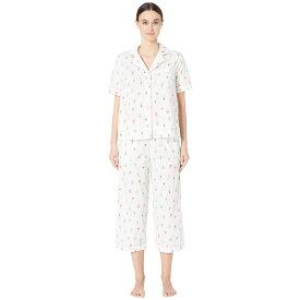 ケイト スペード Kate Spade New York レディース インナー・下着 パジャマ・上下セット【Cotton Lawn Cropped Pajama Set】Cactus Pots