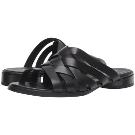 エコー ECCO レディース シューズ・靴 サンダル・ミュール【Flat Slide Sandal】Black Calf Leather