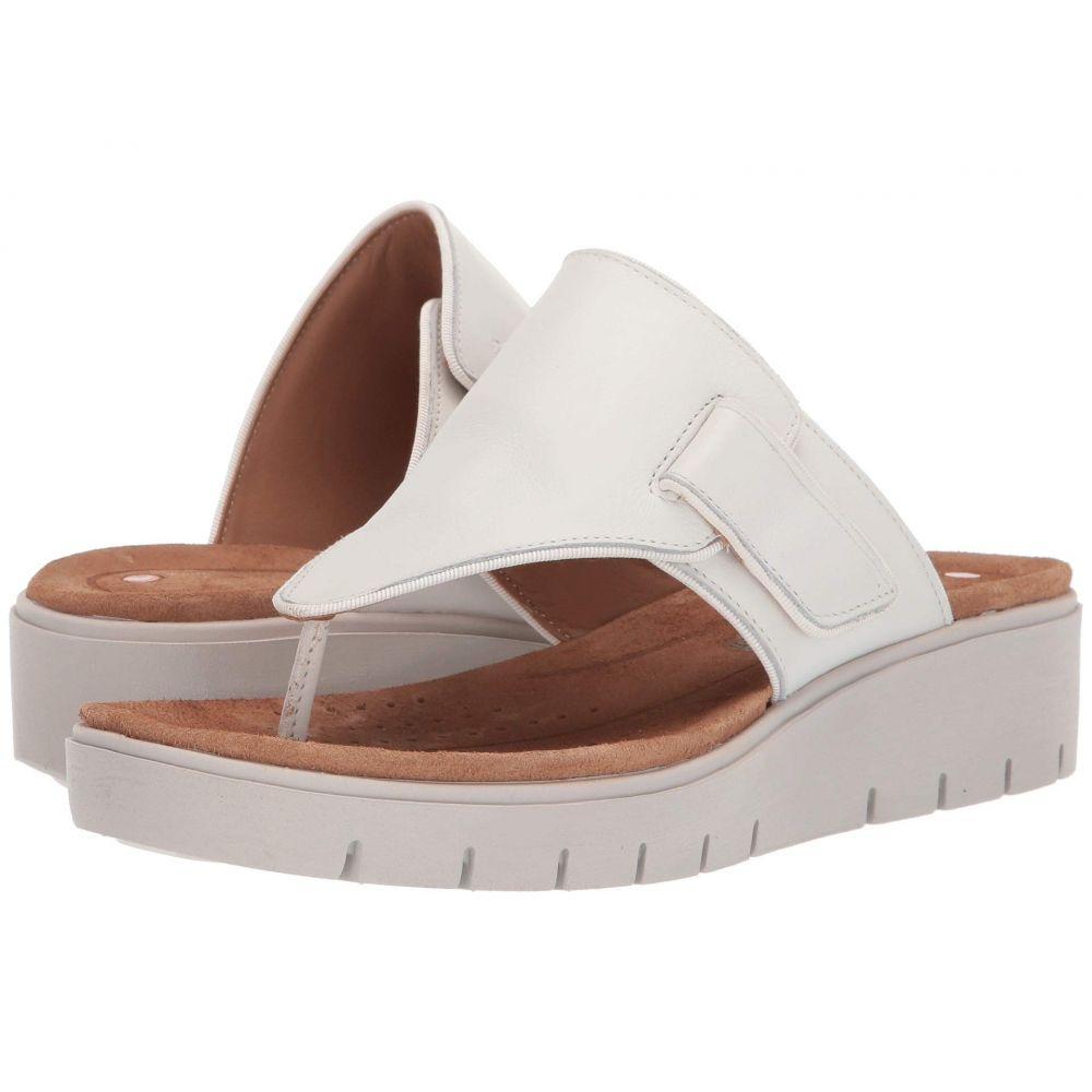 クラークス Clarks レディース シューズ・靴 サンダル・ミュール【Un Karely Sea】White Leather