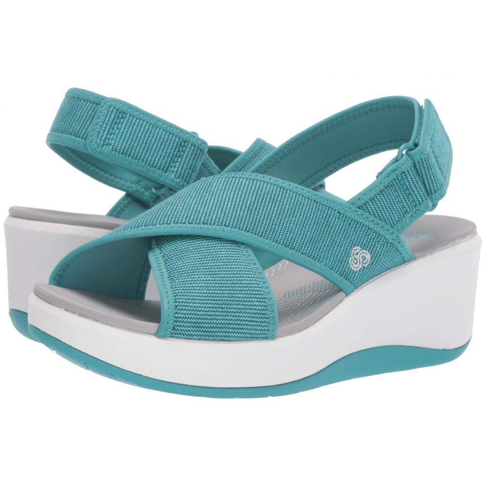クラークス Clarks レディース シューズ・靴 サンダル・ミュール【Step Cali Cove】Aqua Textile Knit