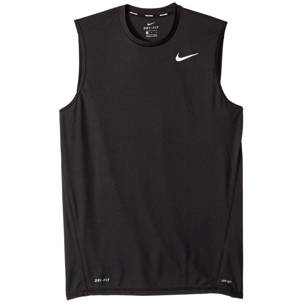 ナイキ Nike メンズ 水着・ビーチウェア ラッシュガード【Solid Sleeveless Hydroguard】Black