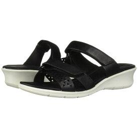 エコー ECCO レディース シューズ・靴 サンダル・ミュール【Felicia Slide Sandal】Black Cow Nubuck